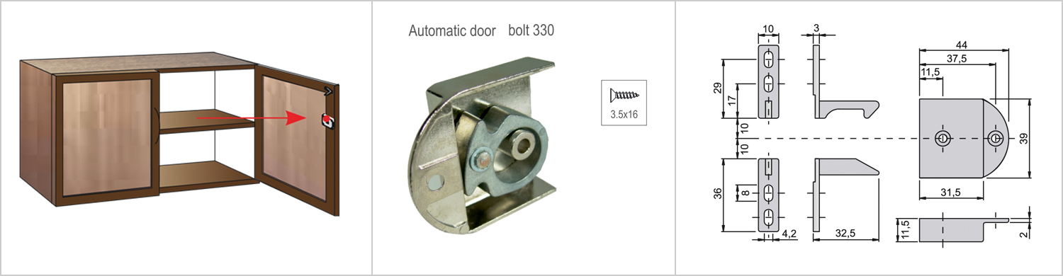 Automatic Double Door Bolt-main