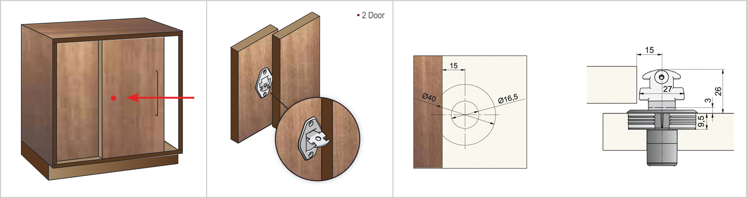 Universal Sliding Lock - 2 Door-main